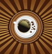 Coffee background design template