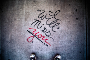 Grunge Style I Will Miss You message
