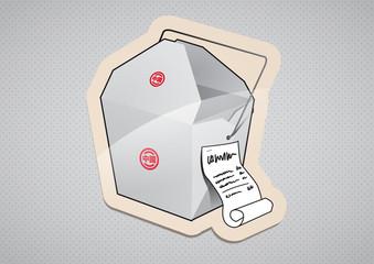 Nudelbox To Go Sticker