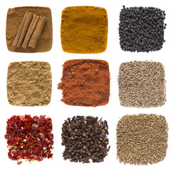 Composition of different spices