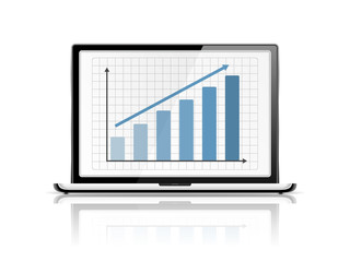 Graph in Laptop