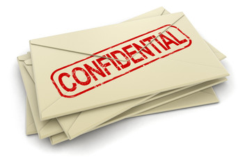 Confidential letters  (clipping path included)