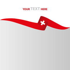 Schweiz Flagge Banner Vektor Silhouette