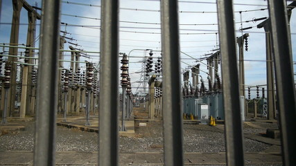 Electricity substation.