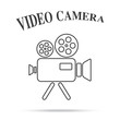 video movie camera vintage icon isolated background