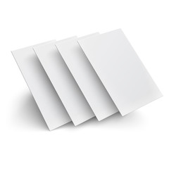 Hover blank pages on white background.