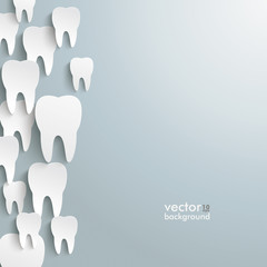 White Teeth Left Side Background