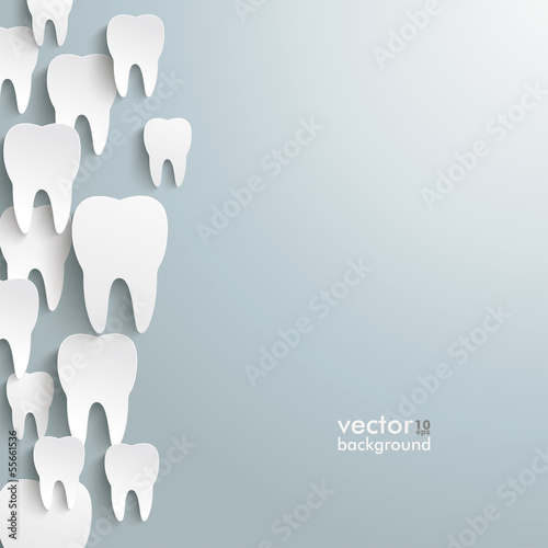 White Teeth Left Side Background