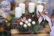 adventsgesteck mit engelchen
