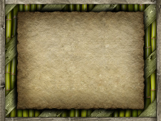 Template - canvas sheet, planks and bamboo