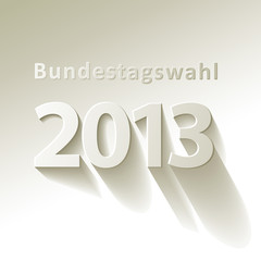 Bundestagswahl 2013 Vektor Weiß