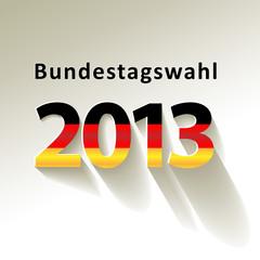 Bundestagswahl 2013 Vektor Fahne