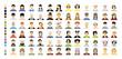 vector color big set avatar people