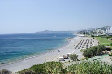 Beach of Faliraki - Rhodes - Greece