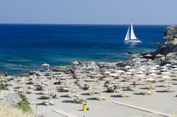 beach view from Rhodes - Greece