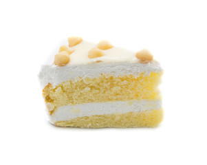 Macadamia Cake isolated on white