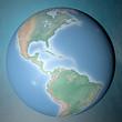 Mondo terra globo America Centrale