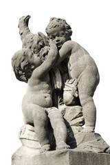 Statue Kinder mit Vogel