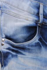 Blue denim jeans  pocket  texture
