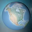 Mondo terra globo America del Nord Usa