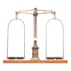 Vintage weight scale for laboratory.
