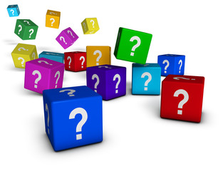 Question Marks Cubes