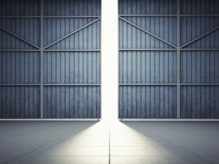 Light from hangar doors