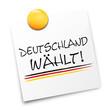 Zettel Deutschland wählt