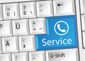 Service - Support - Telefon - Tastatur deutsch