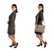 Asian Woman in Black Eye Glasses and Office Outfit