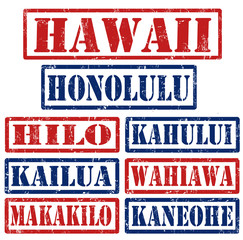 Hawaii Cities stamps