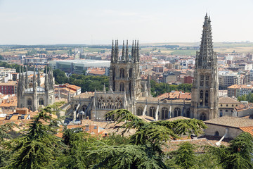 Panoramic view of Burgos