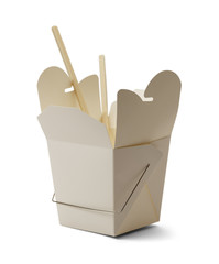 Empty Chinese Food Box