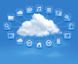 Cloud Computing concept background with icons. Vector illustrati