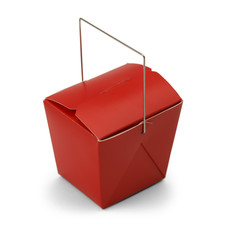Red Take Out Box