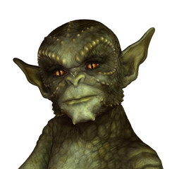 Green Reptilian Alien