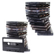 Audio Cassettes stacked