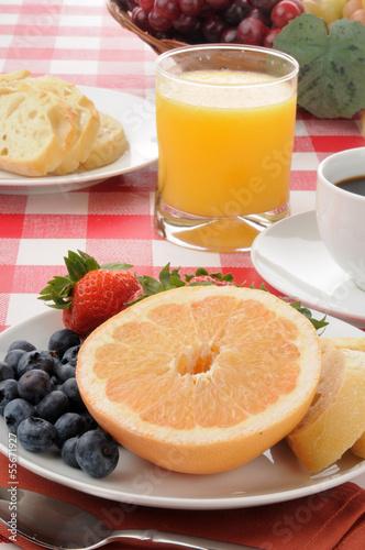 healthy breakfast with grapefruit