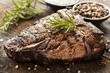 canvas print picture - Grilled BBQ T-Bone Steak