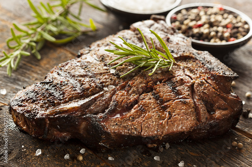 canvas print picture Grilled BBQ T-Bone Steak
