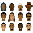 Black Men Faces