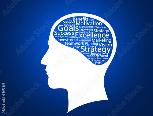 Innovate business concept made with words in brain