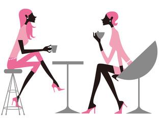 カフェをする女性