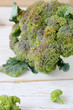 Large broccoli on the table