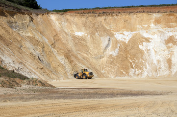 Carrière d'extraction de sable