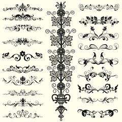 Decorative shape with floral elements