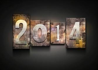 Year 2014 letterpress.