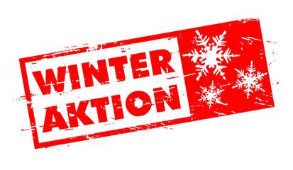 Winter Aktion Stempel