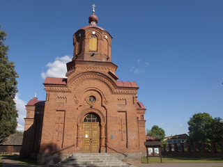 Front of orthodox church from Bialowieza