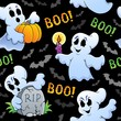 Halloween seamless background 4